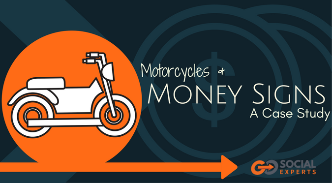 Motorcycles and Money Signs